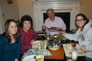Shish Kabob at home with Grammy, Zayda, and Aunt Debbie