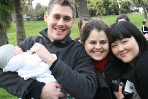 Buddy, Vlada, Jasmine, and Avi at Dolores Park