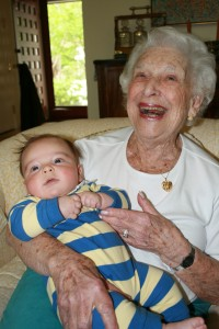 "Avi Aaron and his Great Grandmother ""Nanny"""