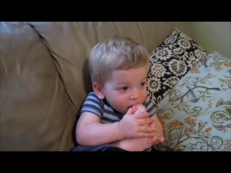 Ezra Eating His Toes